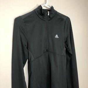 Adidas Quarter Zip Running Shirt Athletic Black S